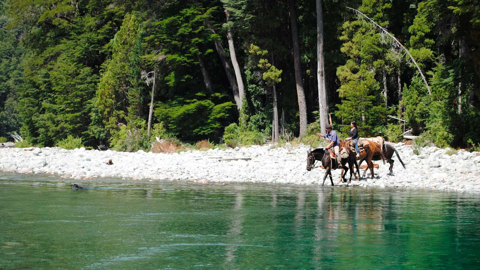 Horse riding in Patagonia - Rio Azul river excursion