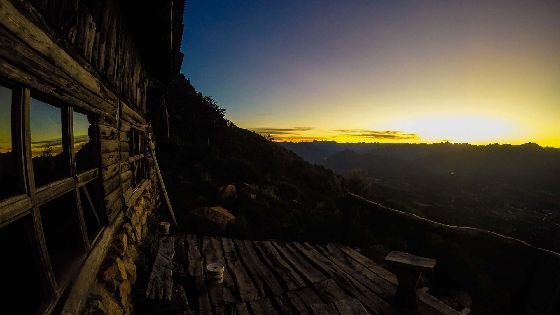 Mountain refuge and overlook Cerro Piltriquitron